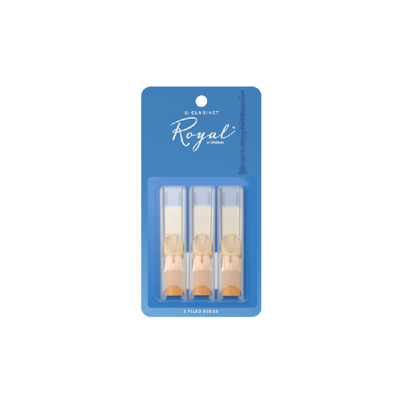 Rico Royal Bb Clarinet Reeds, Strength 2.5 (3 Pack)
