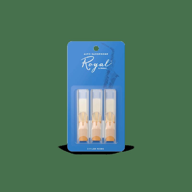Rico Royal Alto Sax Reeds, Strength 3.0 (3 Pack)
