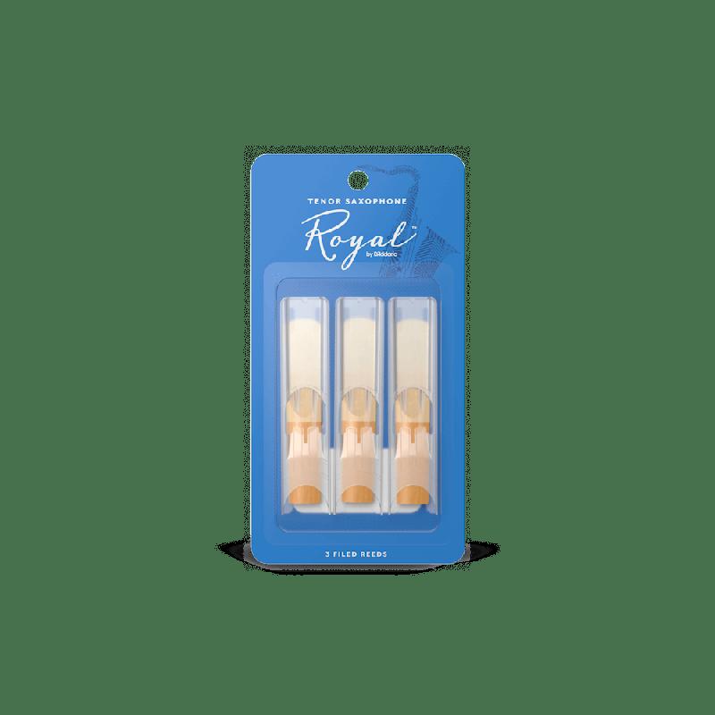 Rico Royal Tenor Sax Reeds, Strength 3.0 (3 Pack)