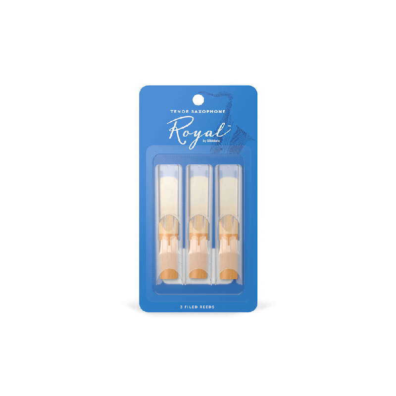 Rico Royal Tenor Sax Reeds, Strength 1.5 (3 Pack)