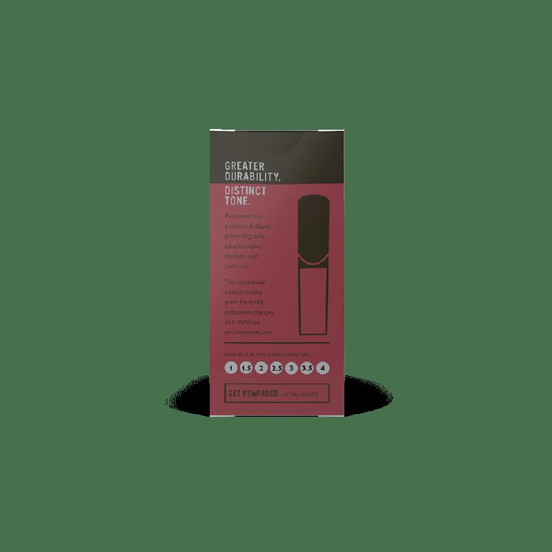 Rico Plasticover Bb Clarinet Reeds, Strength 2.5, (5 pack)