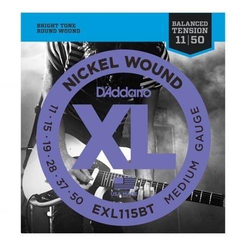 D'Addario EXL115BT Nickel Wound Electric Guitar Strings Balanced Tension Medium
