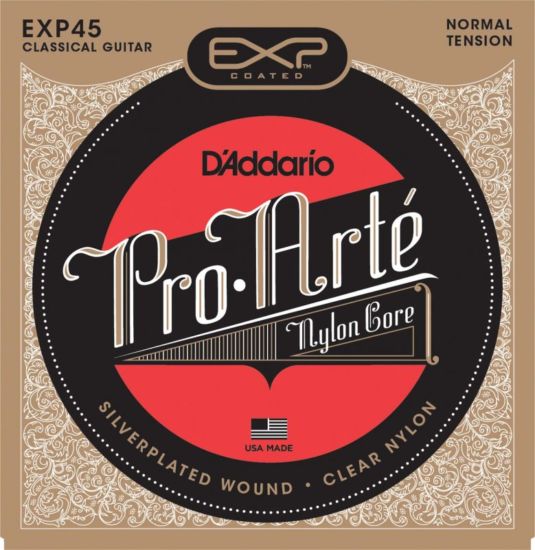 D'Addario Coated Classical Guitar Strings, Normal Tension