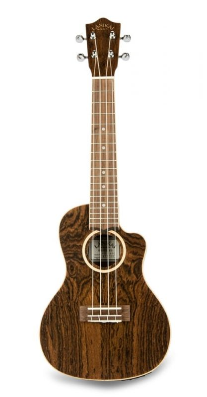 Lanikai FB-CETC Concert Travel Ukulele, electro, figured bocote wood