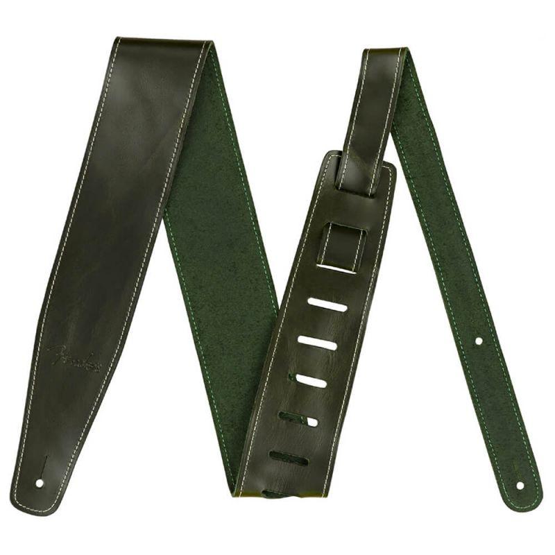 Fender Broken In Leather Strap, Green 2.5 Inch