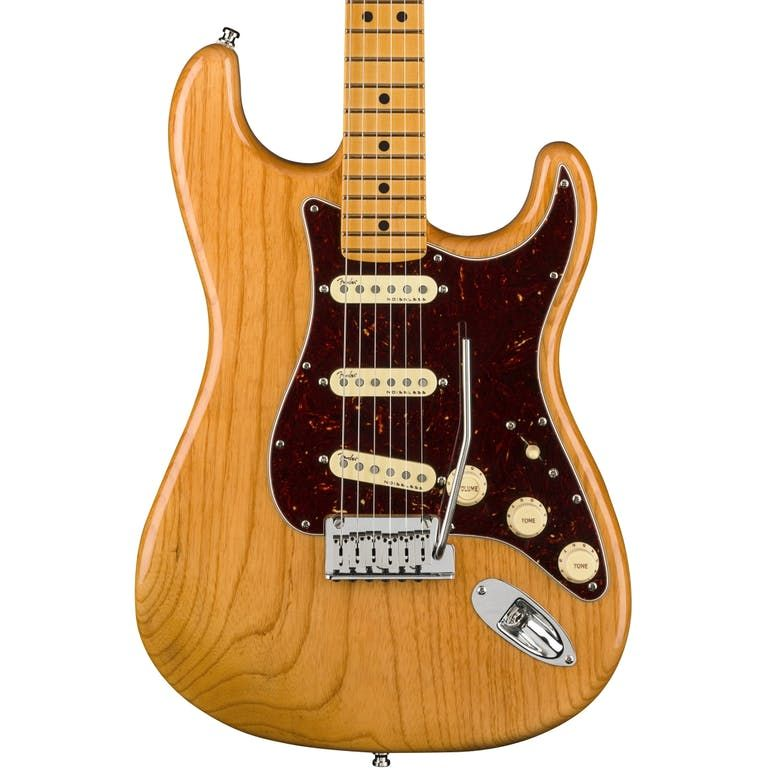 Fender American Ultra Stratocaster, Maple Fingerboard, Aged Natural