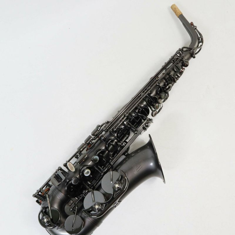 Trevor James Classic II Alto Saxophone Black Frosted Nickel Plate with Black Key