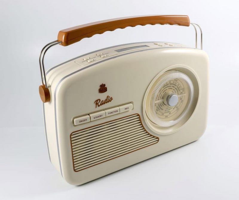GPO Rydell Nostalgic Dab Radio Cream Dab Radio