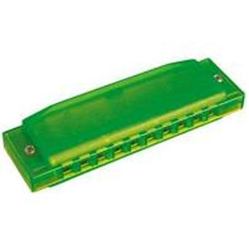 Hohner Happy Harmonica in Green, key C