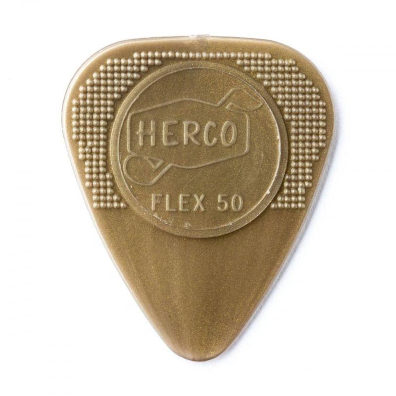 Dunlop Herco Picks Player Pack Flex 50 Medium Gold 12 Player Pack