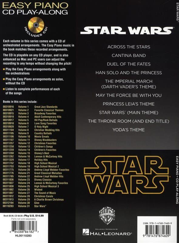 Star Wars Easy Piano play-along vol 31