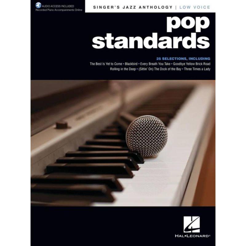 Singer's Jazz Anthology - Pop Standards (Low Voice) (Book + Online Audio)