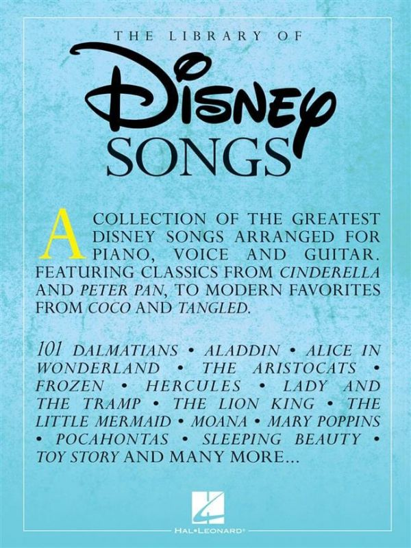 Library of Disney Songs (PVG)