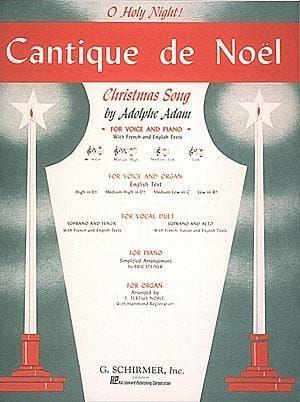 Adam, Adolphe - Adolphe Adam Cantique De Noel (O Holy Night) for High Voice In E Flat