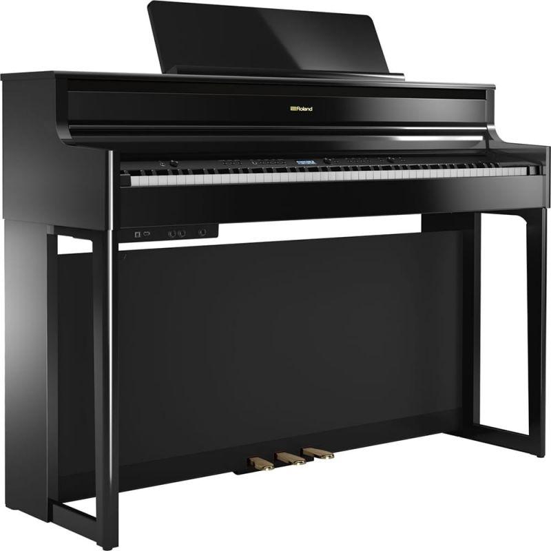 Roland HP704 Premium Concert Class Piano, Polished Ebony