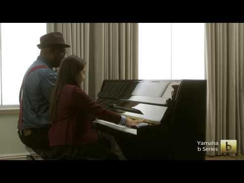 Yamaha B1PE Upright Piano, Polished Ebony,