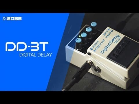Boss DD3T Digital Delay Pedal Upgraded With Tap Tempo Control