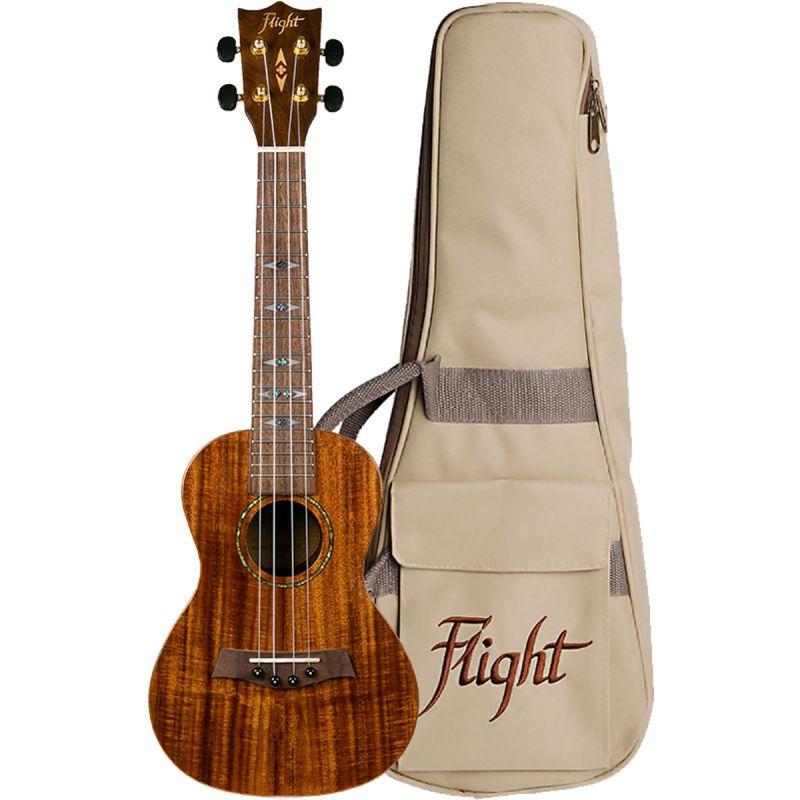 Flight DUC445 Concert Ukulele, Gloss Koa