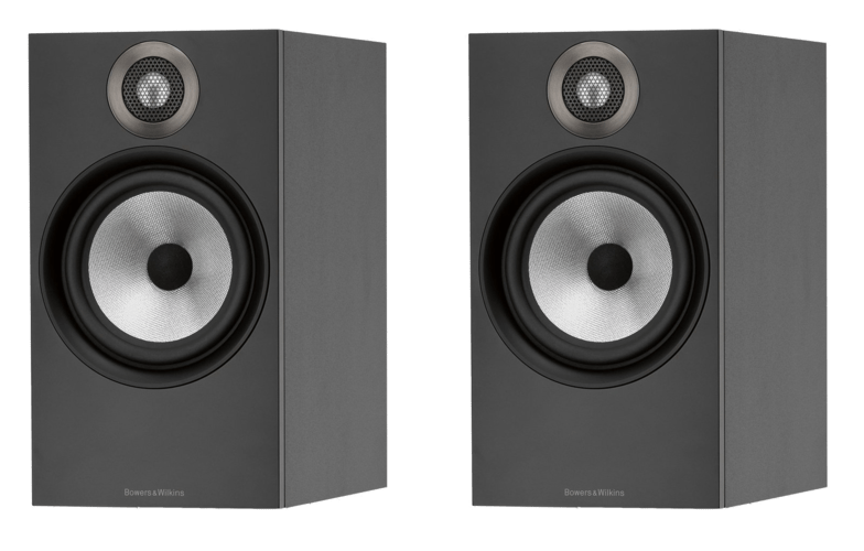Bowers and Wilkins 606 2 way Stand Mount Speakers (pair), Matte Black