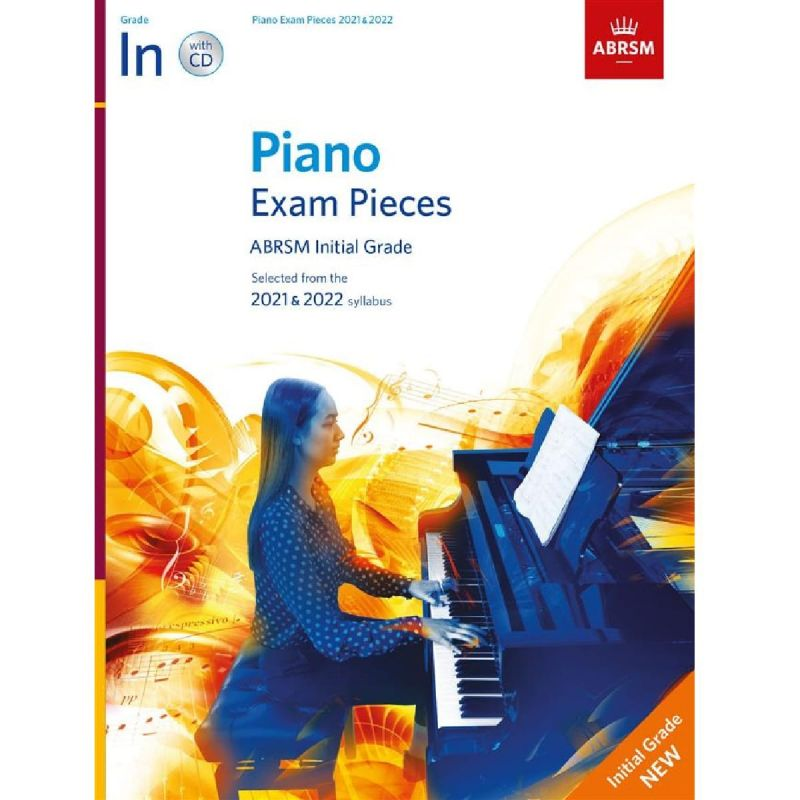 ABRSM Piano Exam Pieces 2021-2022 Initial Grade (Book and CD)