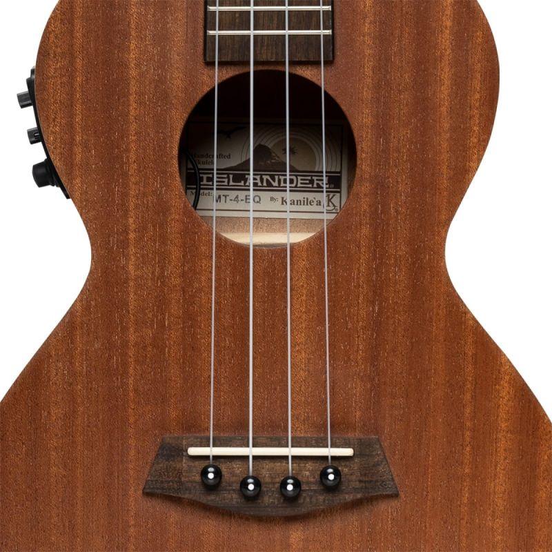 Islander MT-4 EQ Electro-acoustic Traditional Tenor Ukulele with Mahogany Top