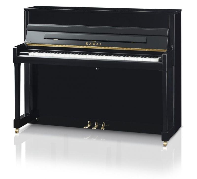 Kawai K200 Upright Piano, Polished Ebony