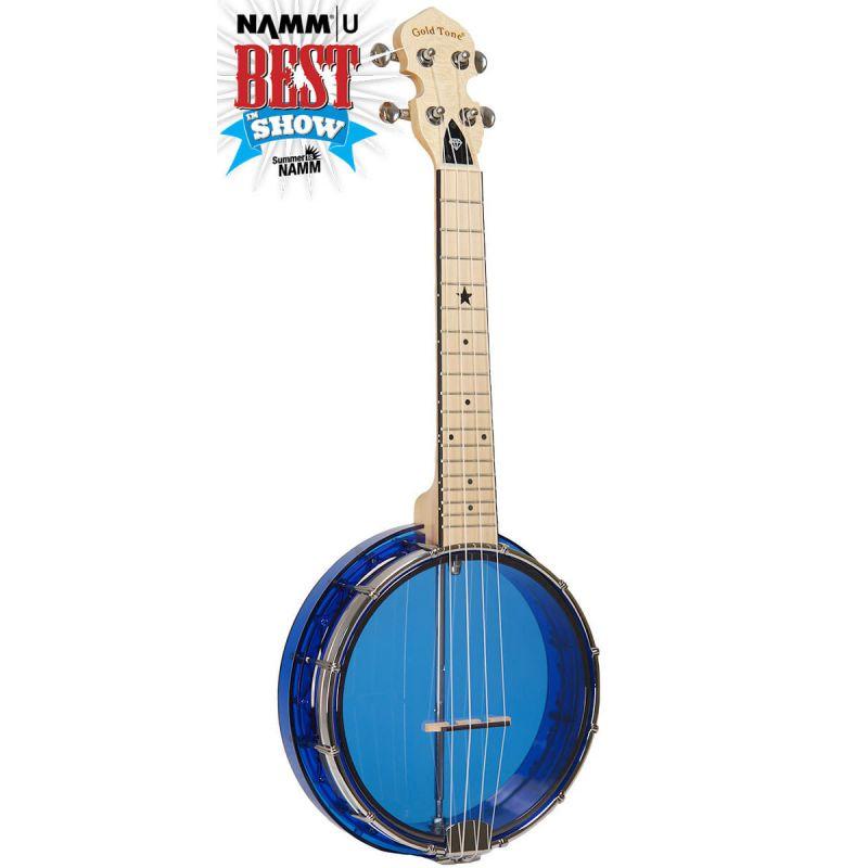 Gold Tone Little Gem Concert Banjo-ukulele, with bag, sapphire
