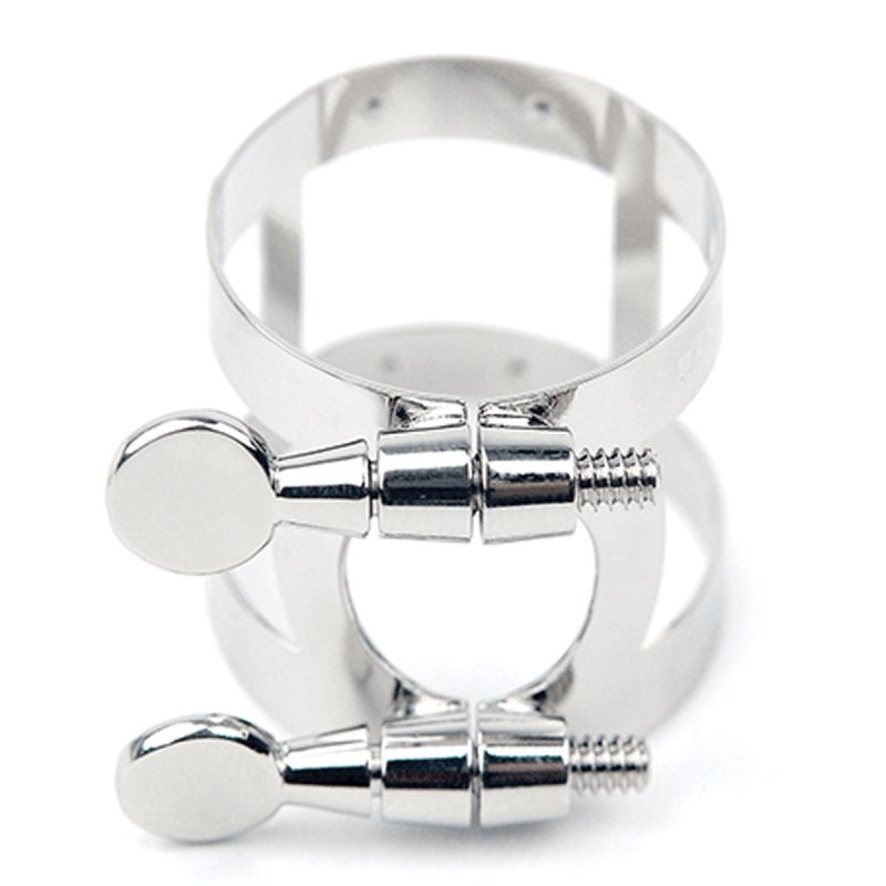 Rico Ligature and Cap, Bb Clarinet, Nickel Plated