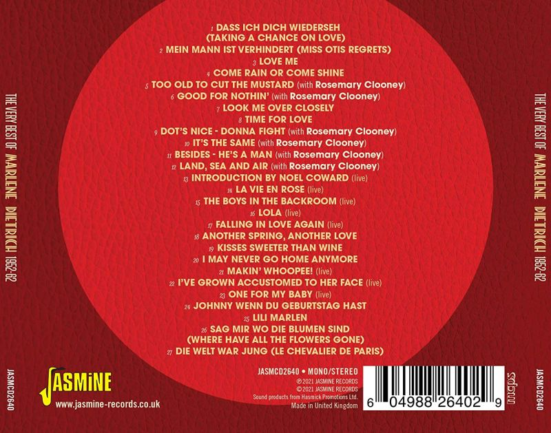 MARLENE DIETRICH - THE VERY BEST OF - CD