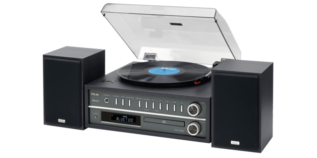 Teac MCD800 Turntable Audio System, Black