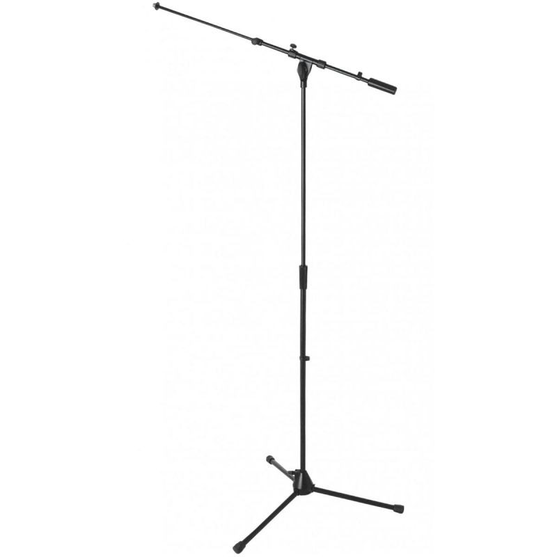 On Stage Euro-Style Heavy Duty Tripod Base Mic Stand with Telescope boom (MS9701TB)