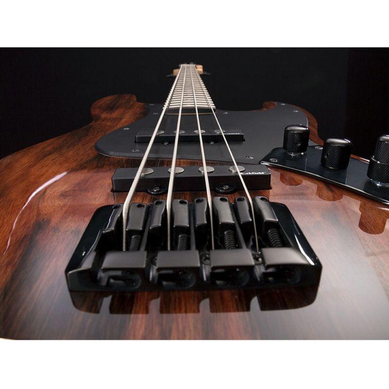 Michael Kelly Custom Coll Element 4 Bass Guitar - Striped Ebony