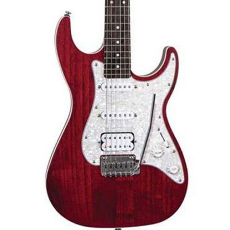 Michael Kelly MK63OTRERB 1963 Electric Guitar, Open Pore Transparent Red