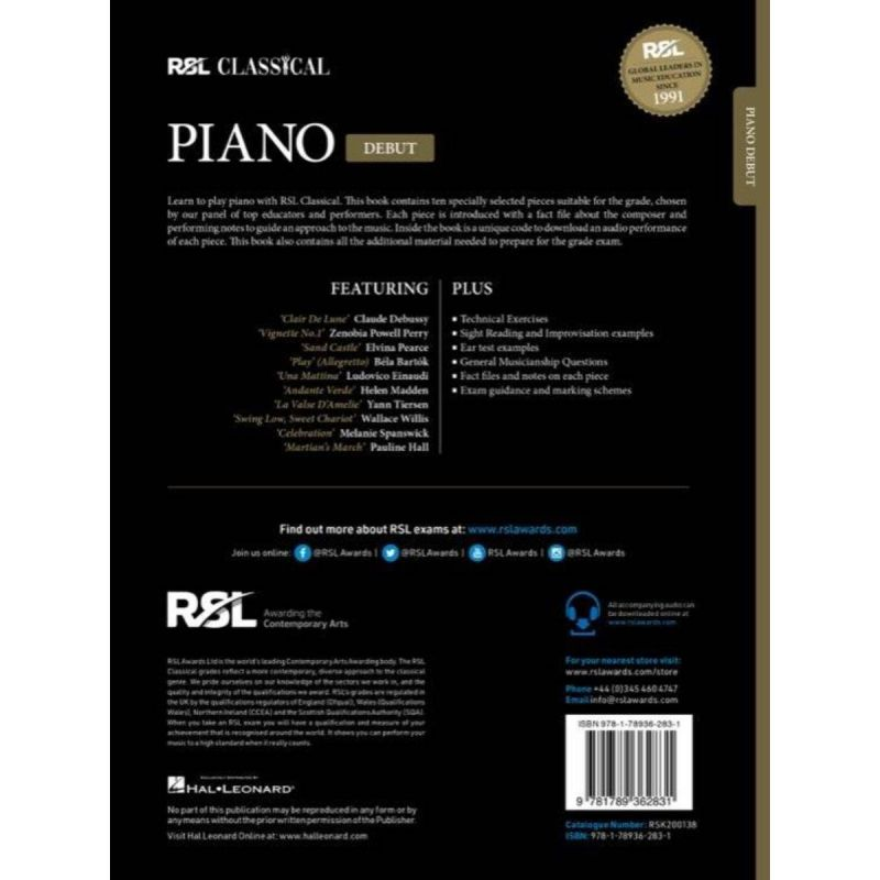 RSL Classical Piano Debut from 2021