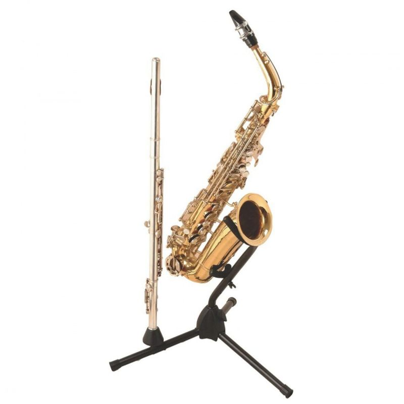 On Stage Alto-Tenor Saxophone Stand with Flute Peg