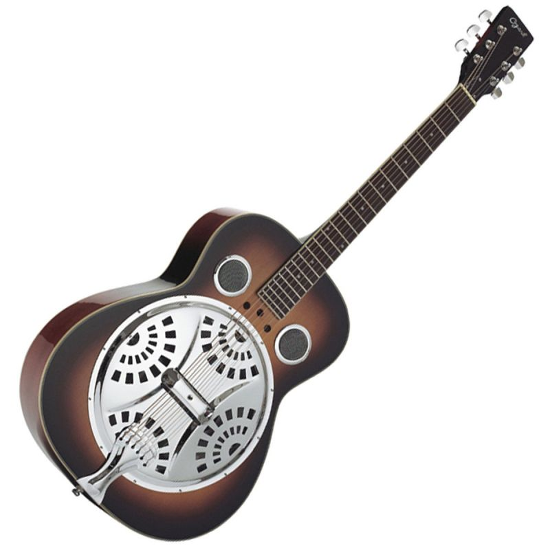 Ozark 3515 Resonator Guitar, Wooden Body