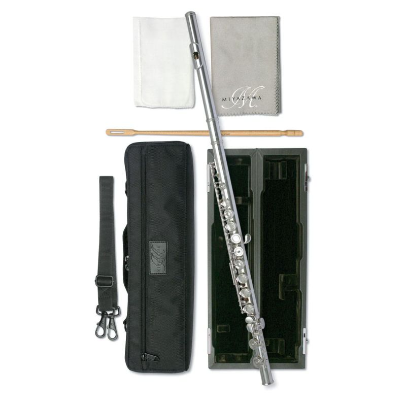 Miyazawa PB402ROE Flute with silver head joint and body, open hole