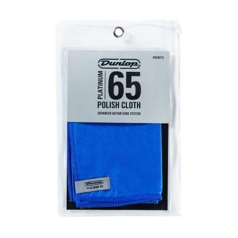 Dunlop Platinum 65 12inch Cloth Blue Suede Mircofiber