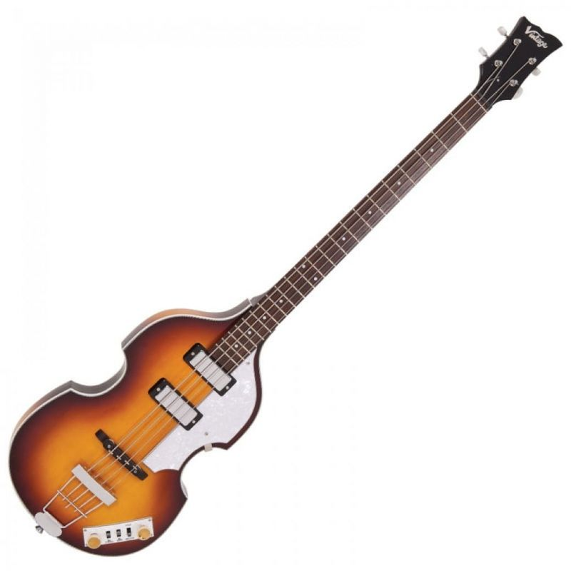 Vintage VVB4 Violin Bass Guitar Antique Sunburst And Hard Case
