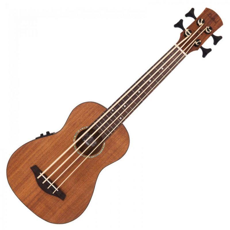 Laka Ukulele Bass Electro Acoustic Acacia Koa