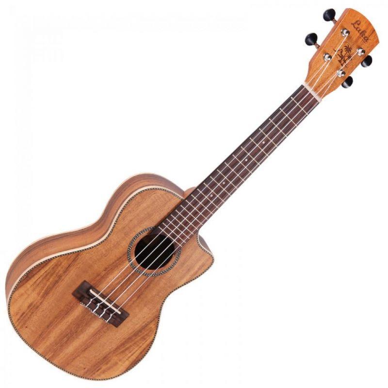 Vintage Laka Series Electro Acoustic Concert Ukulele Solid Koa