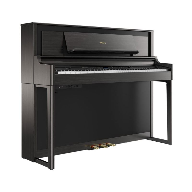 Roland LX706-CH Luxury Upright Piano In Charcoal Black