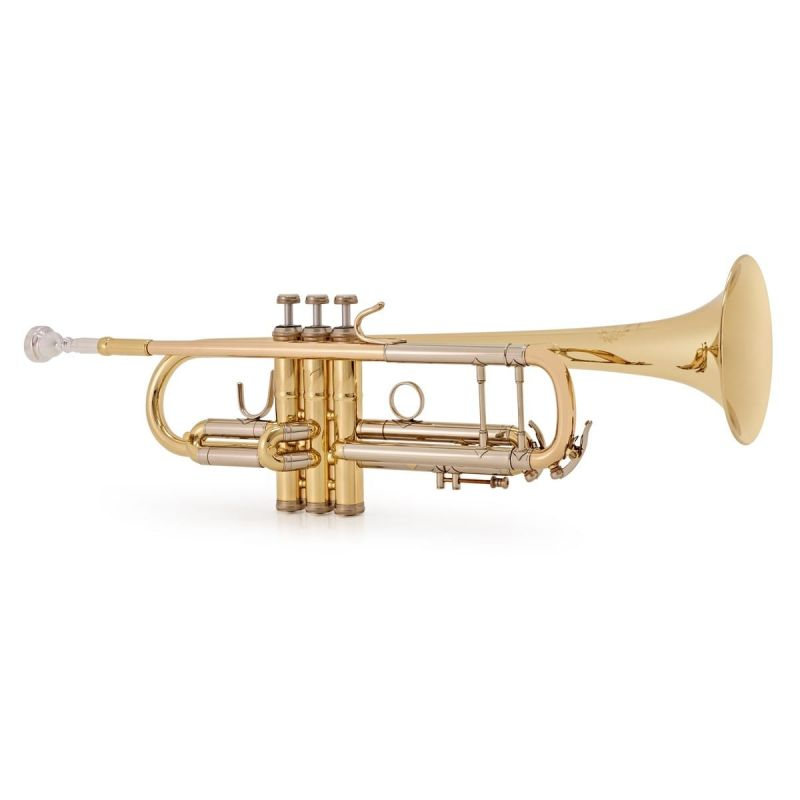 B+S Challenger 1 Trumpet, Gold Lacquer, Display Model