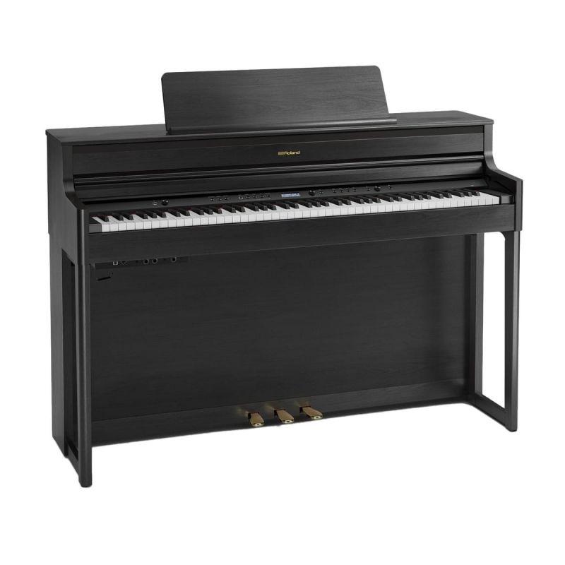 Roland HP704 Concert Class Piano, Charcoal Black