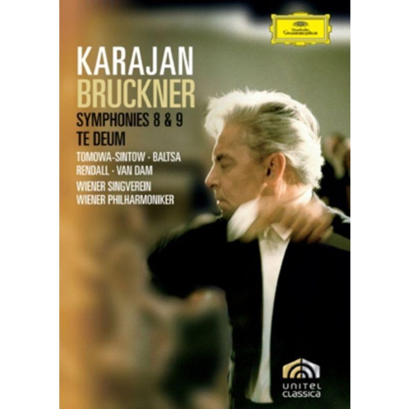 VP KARAJAN - BRUCKNER SYMS NOS 8 AND 9 TE DEUM (DVD)