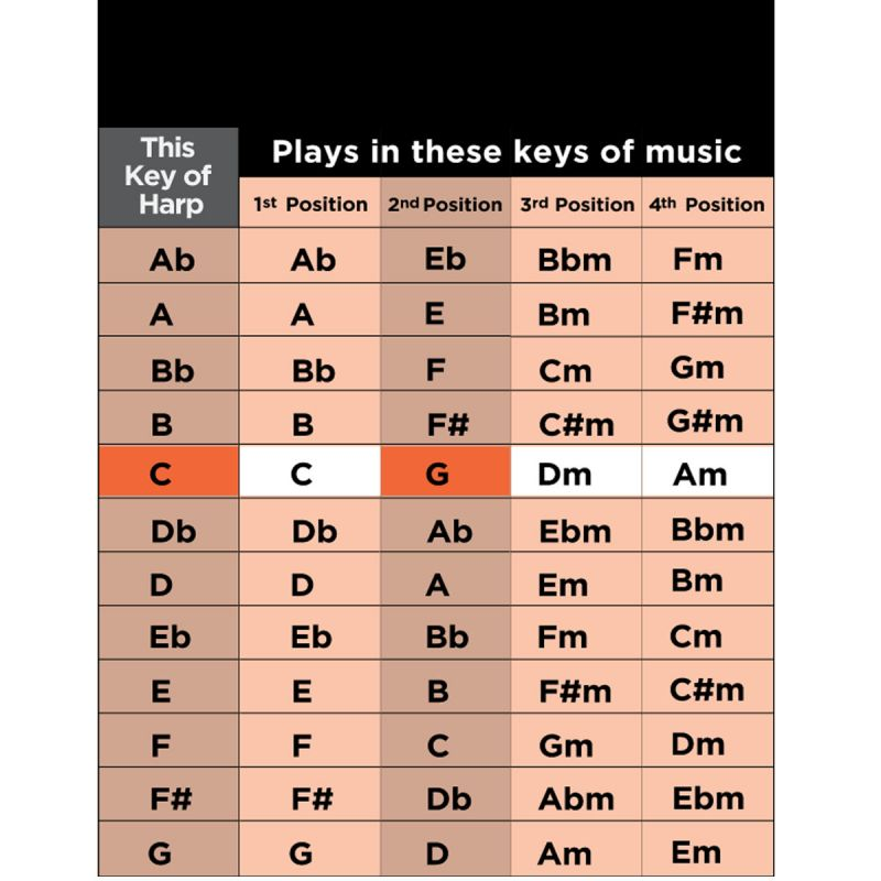 Lee Oskar Harmonica, Major Diatonic, Key A