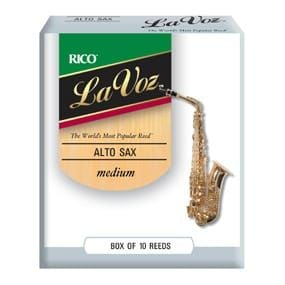La Voz Alto Sax Reeds, Strength Medium-Hard (10 Pack)