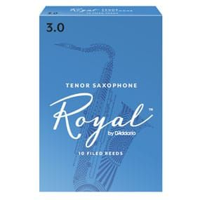 Rico Royal Tenor Sax Reeds, Strength 3.0 (10 Pack)