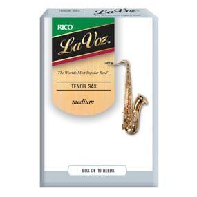 La Voz Tenor Sax Reeds, Strength Medium-Hard (10 Pack)