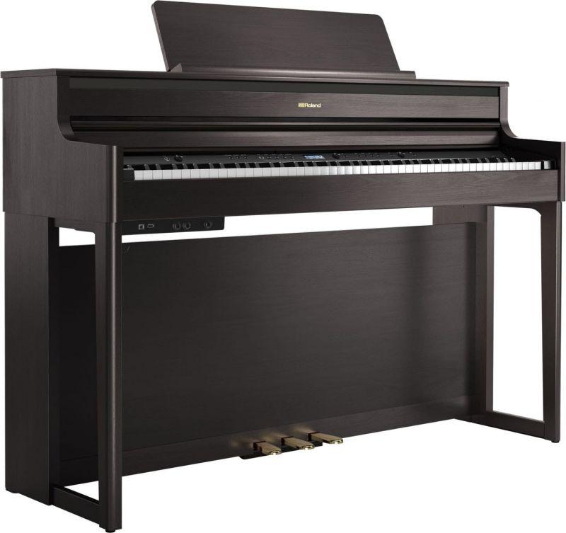 Roland HP704 Premium Concert Class Piano, Dark Rosewood